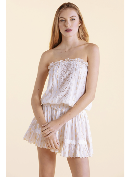 Sunday St Tropez Malibu VI Pepite Dress Blanc S20