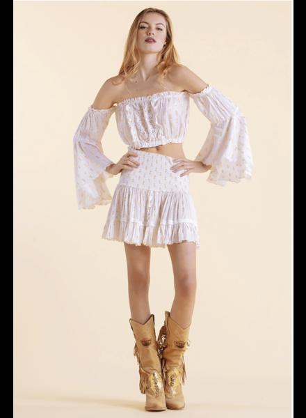 Sunday St Tropez Pomponette VI Pepite Skirt Blanc S20