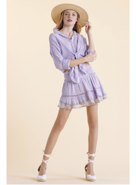 Sunday St Tropez Zolita LI Raye Str Skirt Lila S20