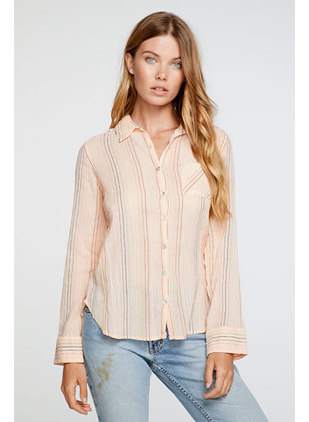 Chaser Classic Shirting Shirttail Button Down S20