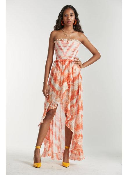 Rococo Long Dress Orange S20