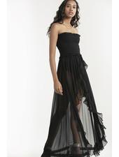 Rococo Long Dress Black S20