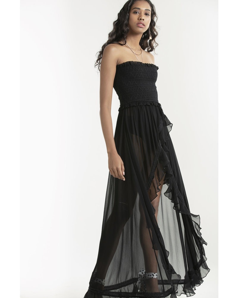 Rococo Long Dress Black S20