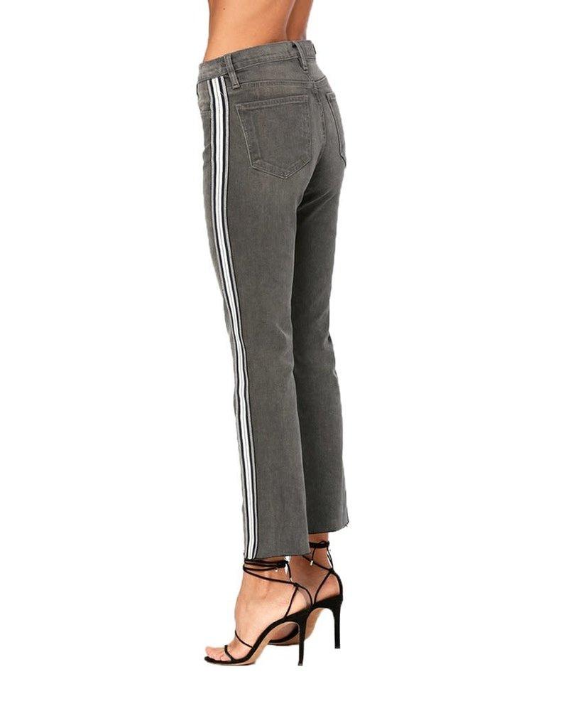 Etienne Marcel EM1054 Athletic Stripe Slim Straight Grey S20