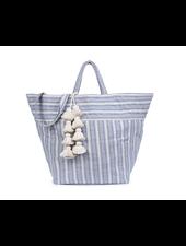 JADEtribe Sabai Beach Bag Organic Tassel Indigo