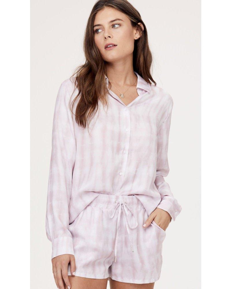 David Lerner Portman Button Down Shirt Pink Tie Dye S20