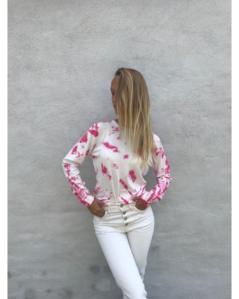 Brodie Tie Dye Jumper Ice Water/Hot Pink S20