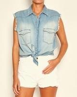 BASH Drop Shirt Blue Jeans S20
