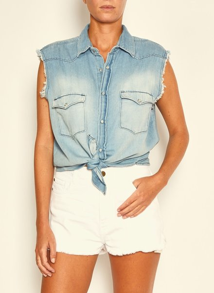 BASH Drop Shirt Blue Jeans S20