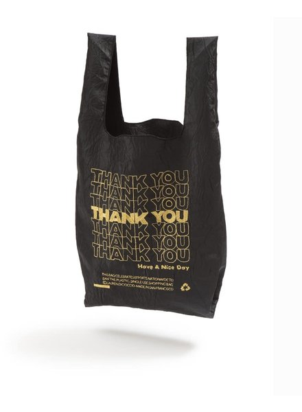 Open Editions Black + Gold Thank You Tote