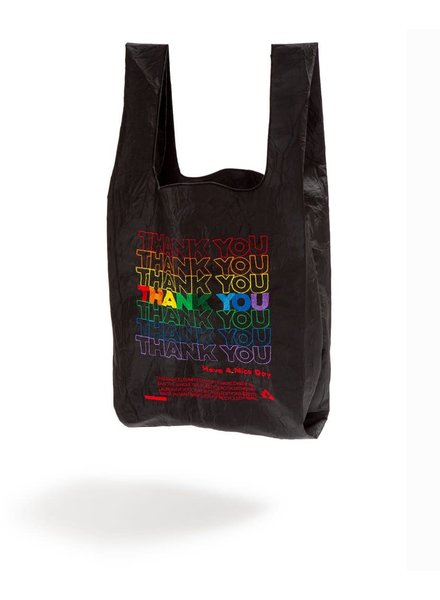 Open Editions Black + Rainbow Thank You Tote