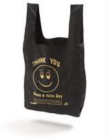 Open Editions Black + Gold Smile Tote