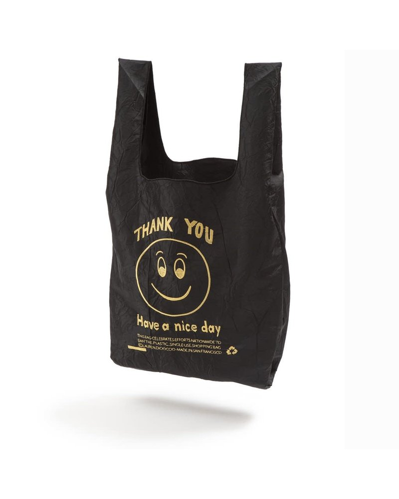 Open Editions Black + Gold Smile MINI Tote