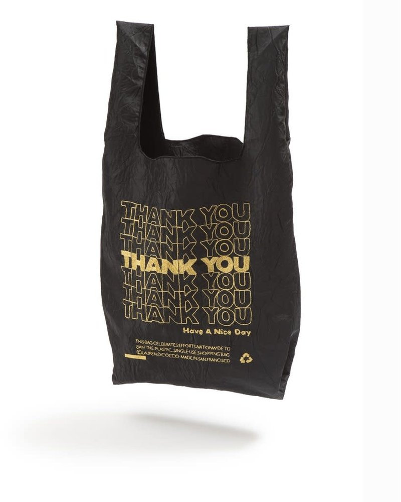 Open Editions Black + Gold Thank You MINI Tote