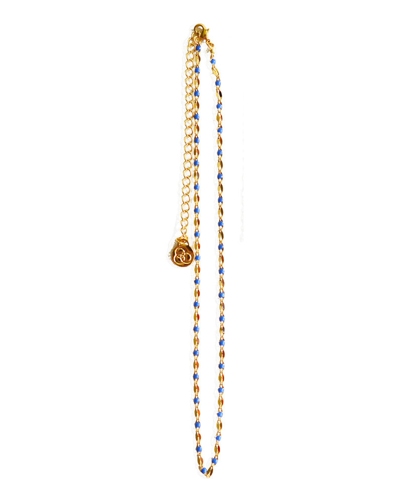 Cloverpost 17973N0Y-10 - Necklace Pop Choker Yellow Navy