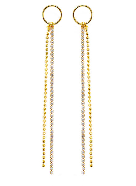 Cloverpost 181351E0Y - Earring Heist Yellow