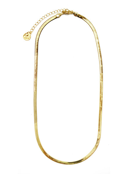 Cloverpost 201778N0Y - Necklace Borderline Yellow