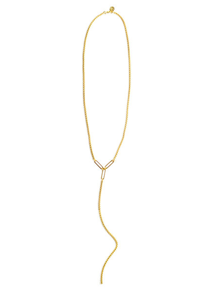 Cloverpost 181242N0Y - Necklace Flight Lariat Yellow