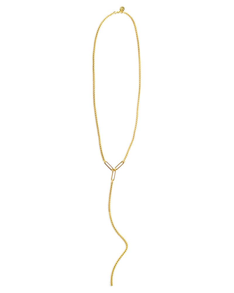 Cloverpost 181242N0Y - Necklace Flight Lariat Yellow