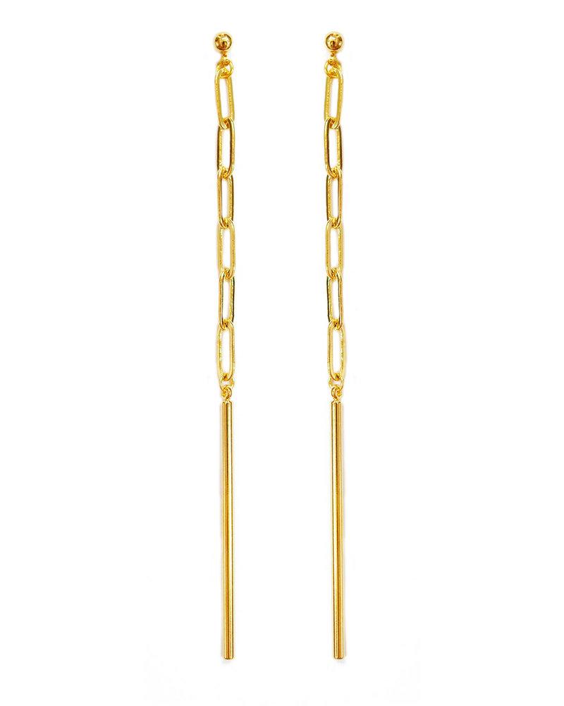 Cloverpost 181388E0Y - Earring - Gulf Yellow