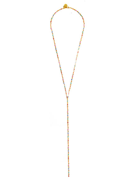 Cloverpost 17980N0Y-15 Necklace Pop Excess L Yellow Bright Multi