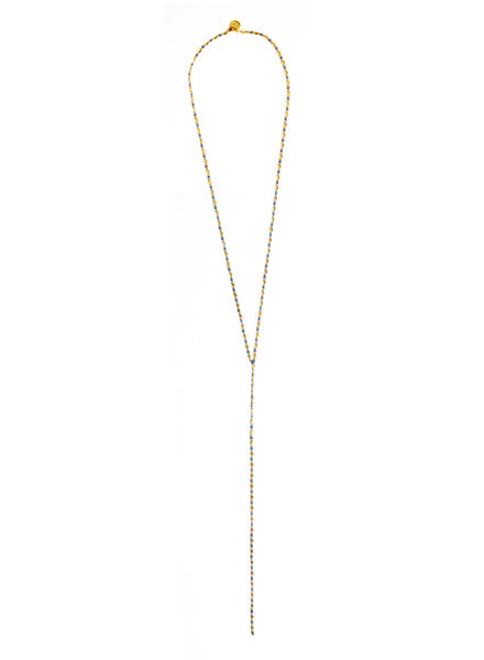 Cloverpost 17980N0Y-10 Necklace Pop Excess L Yellow Navy