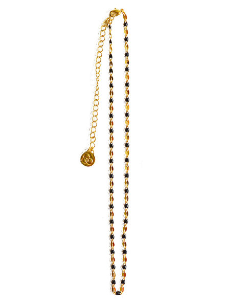 Cloverpost 17973N0Y-02 - Necklace Pop Choker Yellow Black