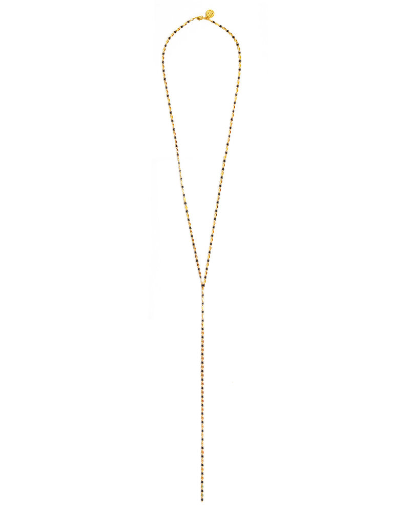 Cloverpost 17980N0Y-02 - Necklace Pop Excess L Yellow Black