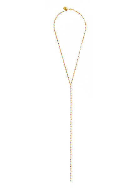 Cloverpost 17979N0Y-15 Necklace Pop Excess Tight Yellow Bright Multi