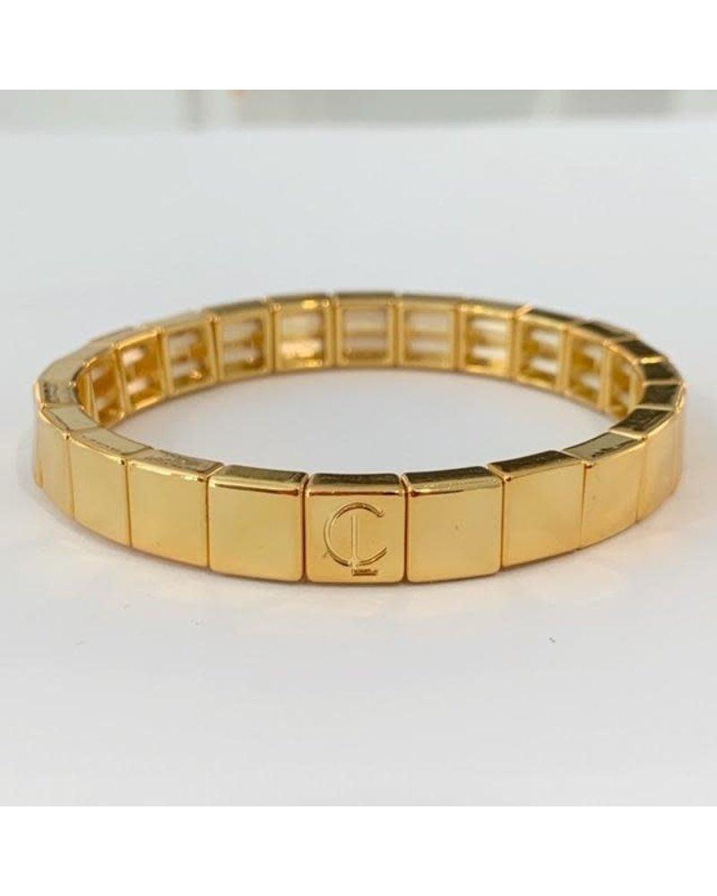 Caryn Lawn Tile Bracelet Gold