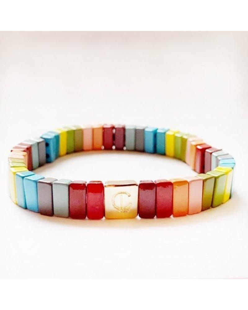 Caryn Lawn Tile Bracelet Fall Rainbow Mini