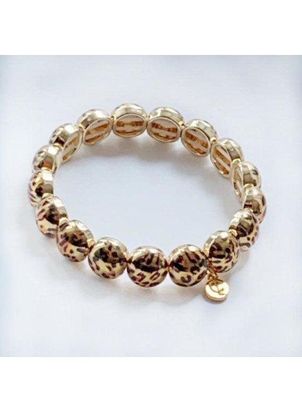 Caryn Lawn Gold Leopard Bubble Bracelet