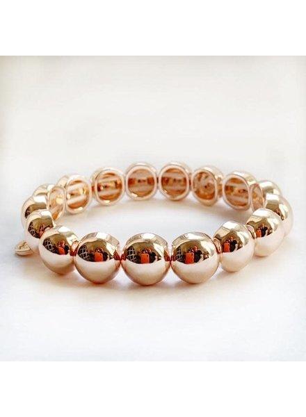 Caryn Lawn Bubble Bracelet Rose Gold