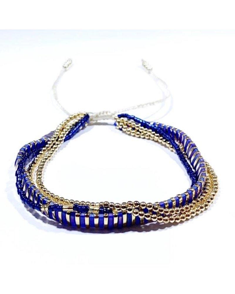Caryn Lawn Supernova Multi Strand Bracelet Navy