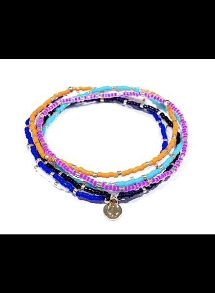 Caryn Lawn Seed Bead Bracelet Set