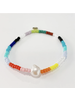 Caryn Lawn BR4014 Fresh Water Pearl - Single Rainbow Bracelet