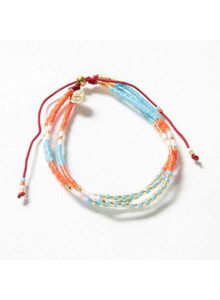Caryn Lawn BR4005 Triple Strand Bracelet - Coral