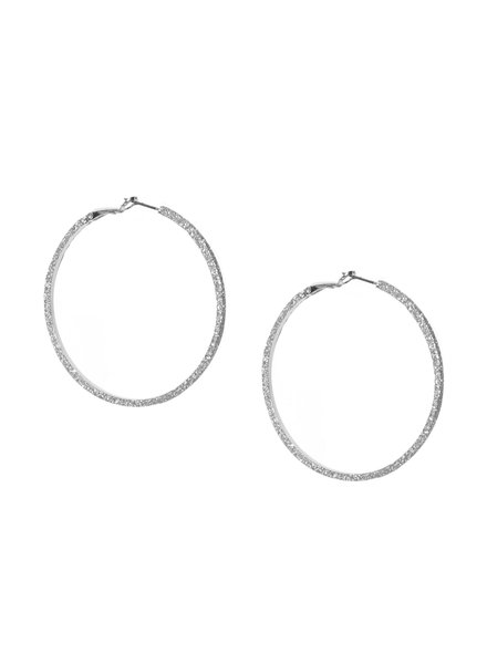 Marlyn Schiff 0342E Large Shimmer Metal Hoop