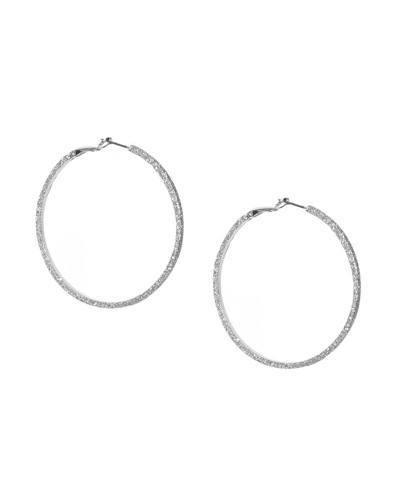 Marlyn Schiff 0342E Large Shimmer Metal Hoop