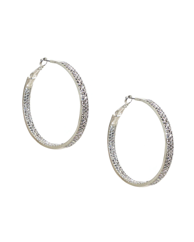 Marlyn Schiff 0608E Large Pave Hoop
