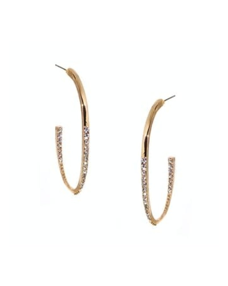 Marlyn Schiff 0987E Curved Hoop Post Earring