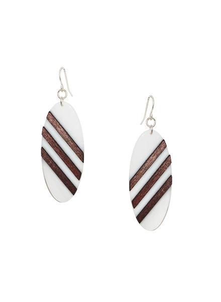 Marlyn Schiff Wood Stripe Earring