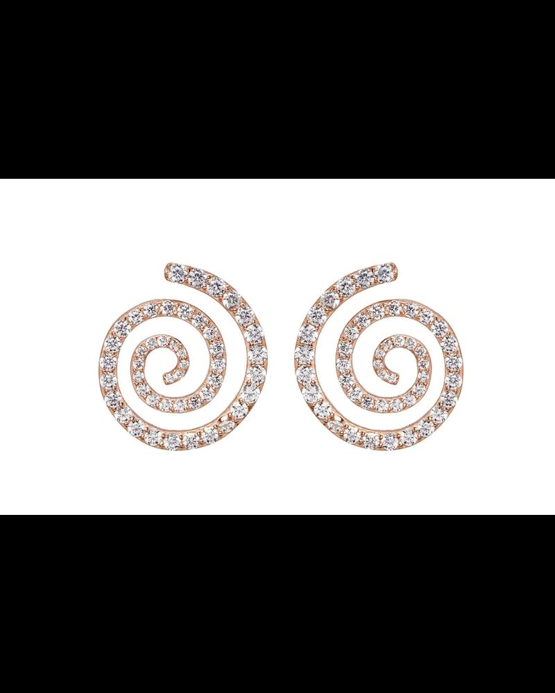 Nickho Rey Mini Penelope Stud Rose Gold/White