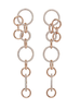 Nickho Rey Fen Hoops Rose Gold/White