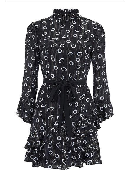 Saloni Marissa Mini Dress Space Dot/Black F19
