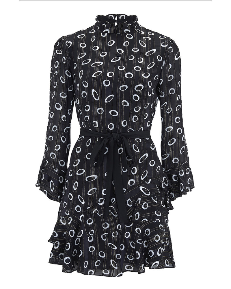 Saloni Marissa Mini Dress Space Dot/Black F19