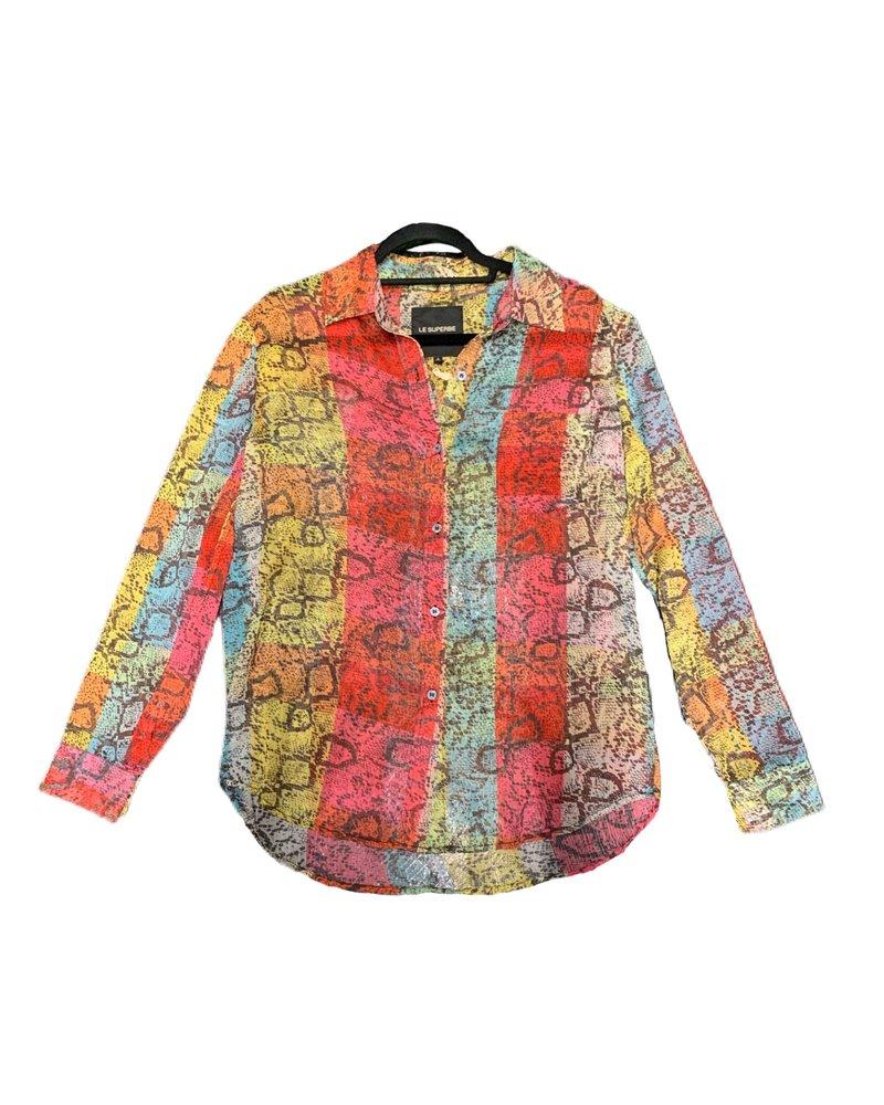 Le Superbe Future EX BF Shirt Rain Boa Snake Stripe S20
