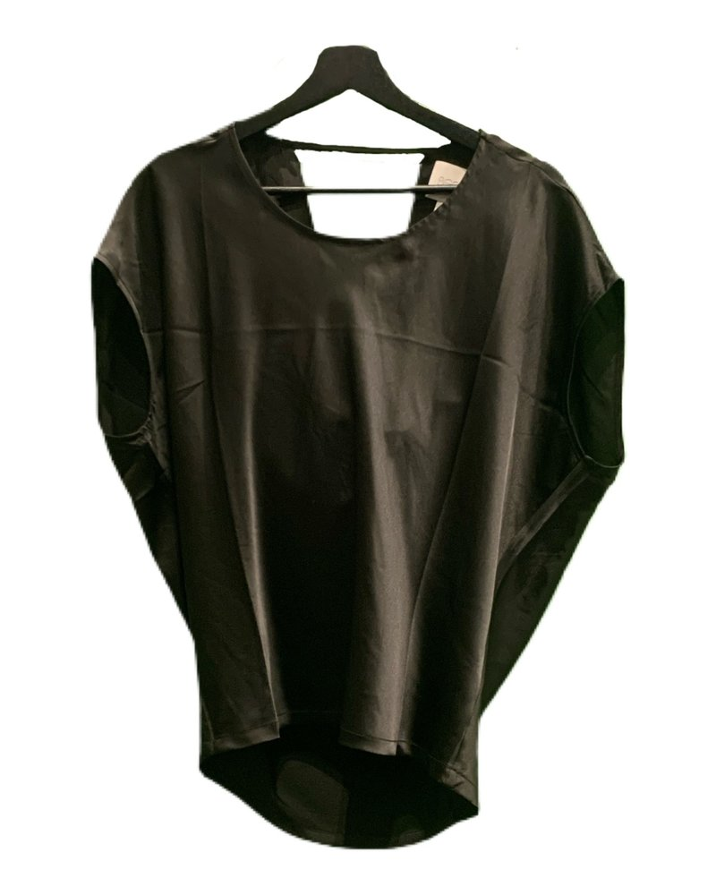 SEN Mabel Short Sleeves Top Drap Black S20