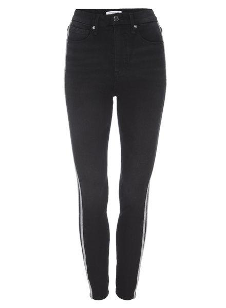 Good American Good Legs w/Athletic Stripe Black F19