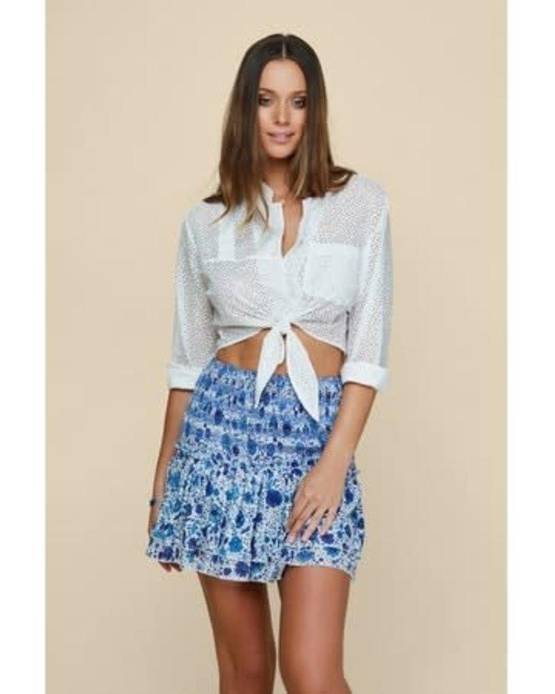 POUPETTE ST BARTH Mini Skirt Triny Smocked Ct Ms Pr